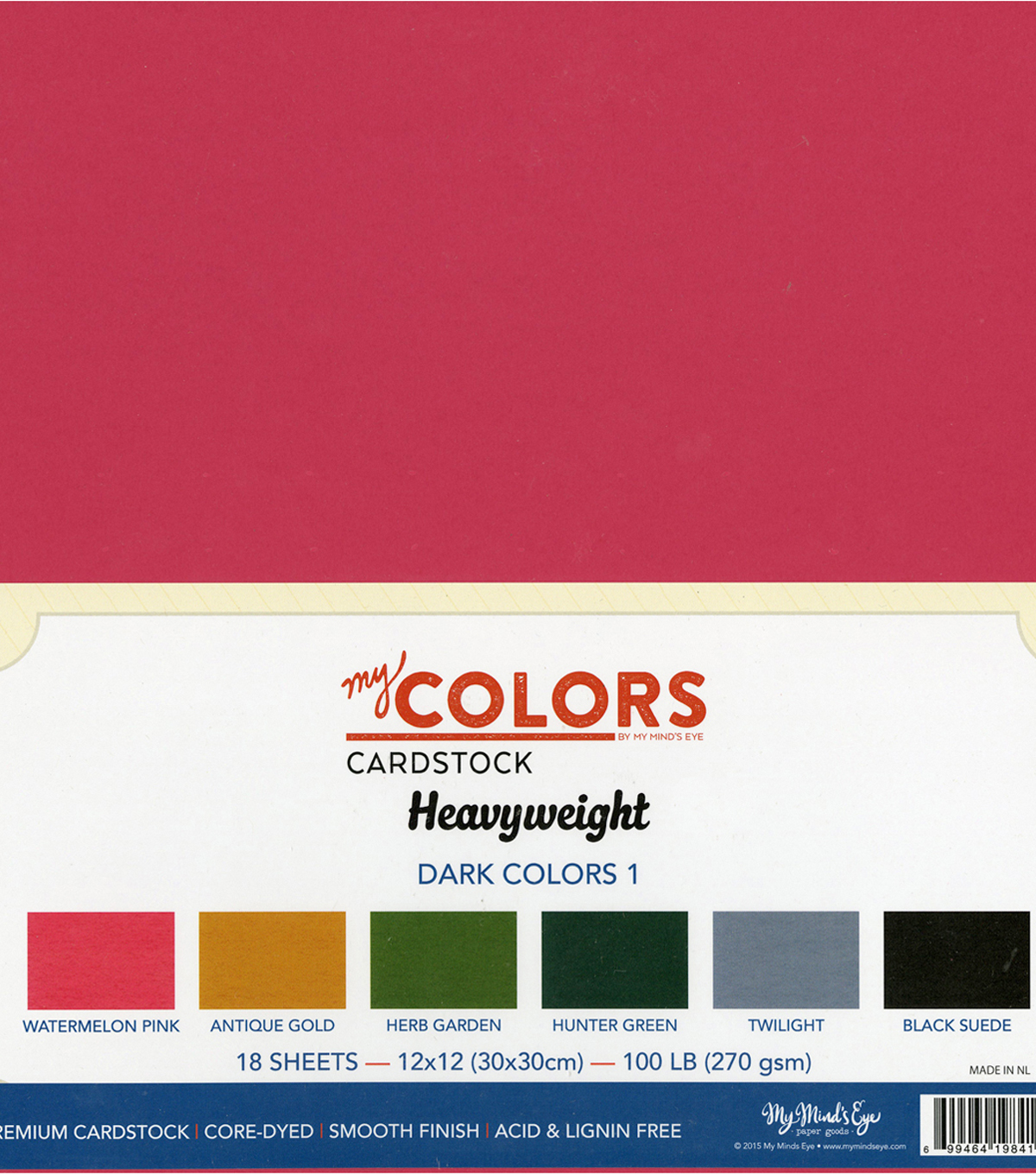 My Mind\u0027s Eye My Colors Heavyweight Premium Cardstock-Dark Colors 1