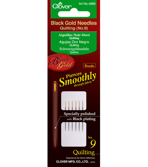 Black Gold Quilting Needles-Size 9 6/Pkg