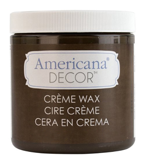 DecoArt Americana Decor Creme Wax 4oz , Deep Brown
