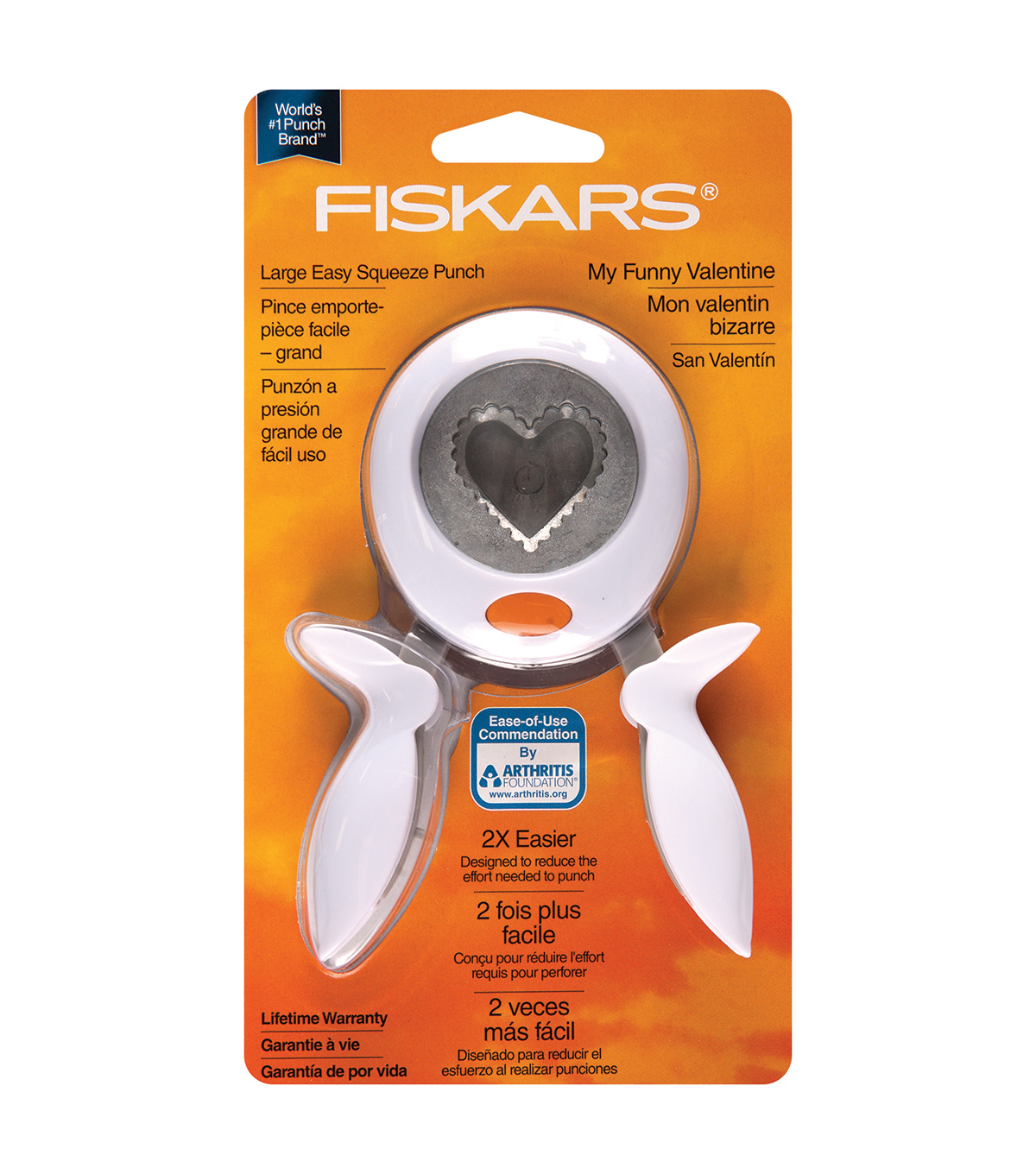 Fiskars Squeeze Punch, Large - My Funny Valentine