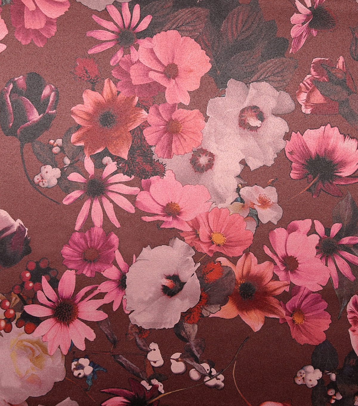 Casa Embellish Satin Fabric 57\u0027\u0027-Blackberry Wine Watercolor Floral