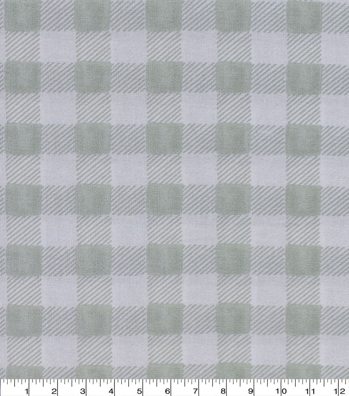 Harvest Cotton Fabric-Light Green Buffalo Check