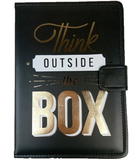 Park Lane 6.75\u0027\u0027x9.5\u0027\u0027 Journal-Think Outside the Box on Black