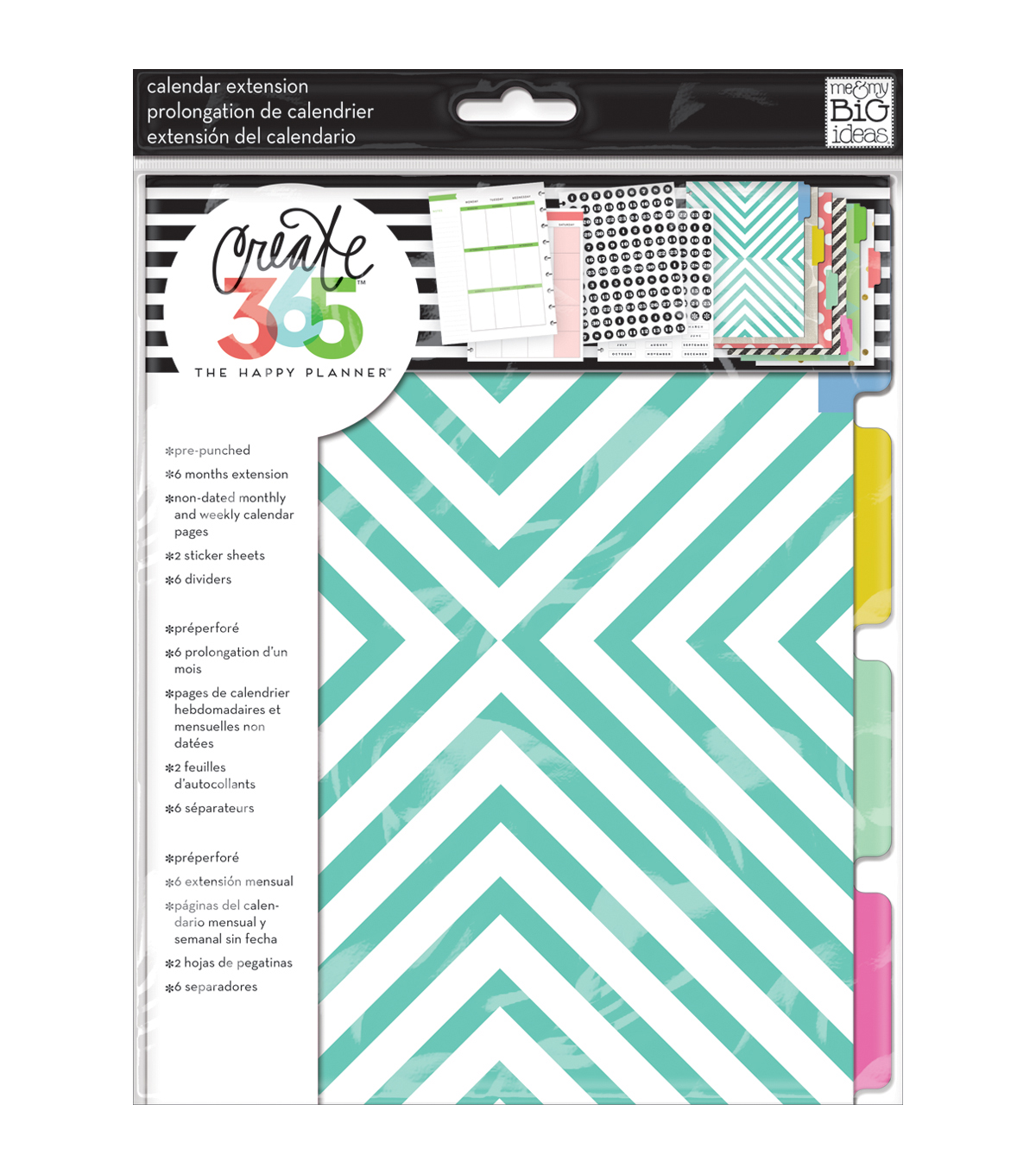 The Happy Planner Extension Pages-Teal & Gold