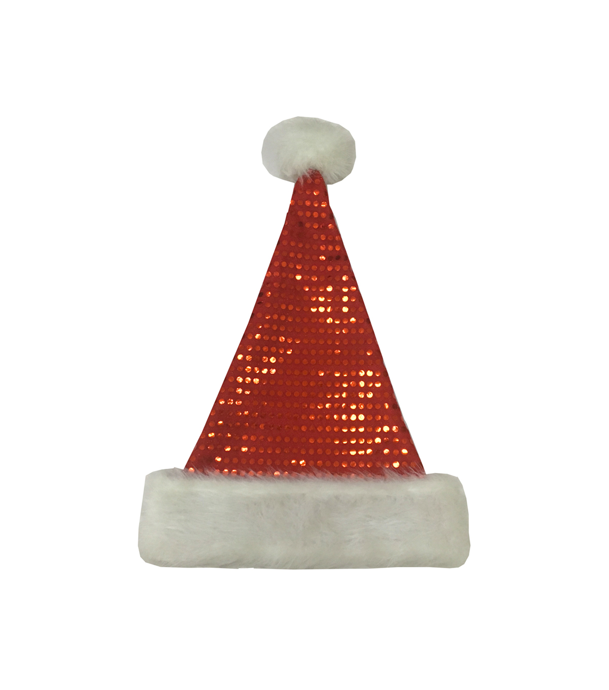 Maker\u0027s Holiday Christmas Sequin Santa Hat-Red