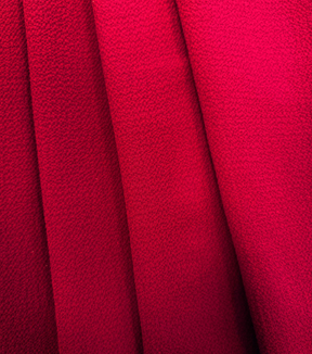 Simply Silky Solid Bubble Chiffon Fabric -Red