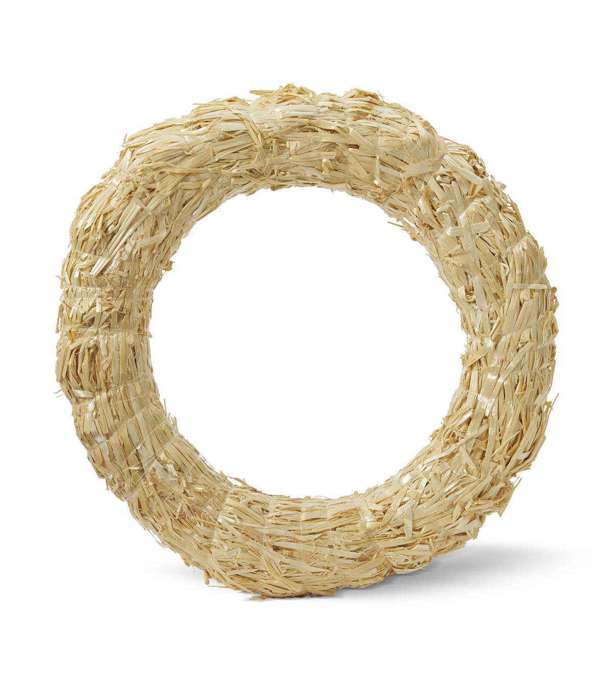 18\u0022 Straw Wreath - Clear Wrapped