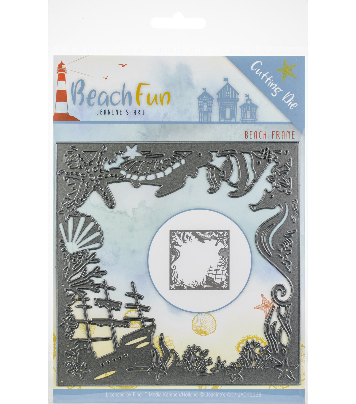 Find It Trading Jeanine\u0027s Art Beach Fun Die-Beach Frame