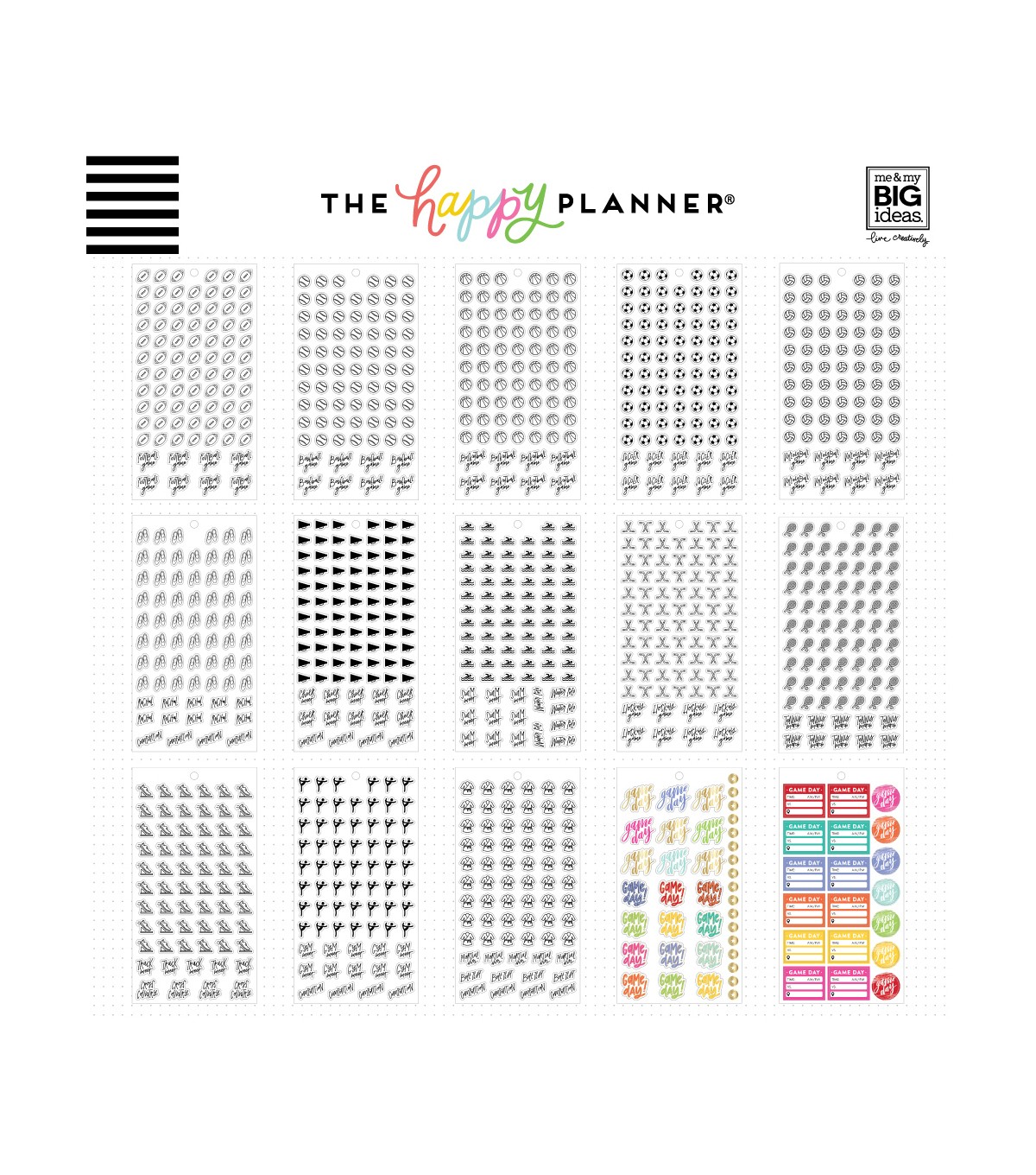 The Happy Planner Sticker Value Pack-Sport