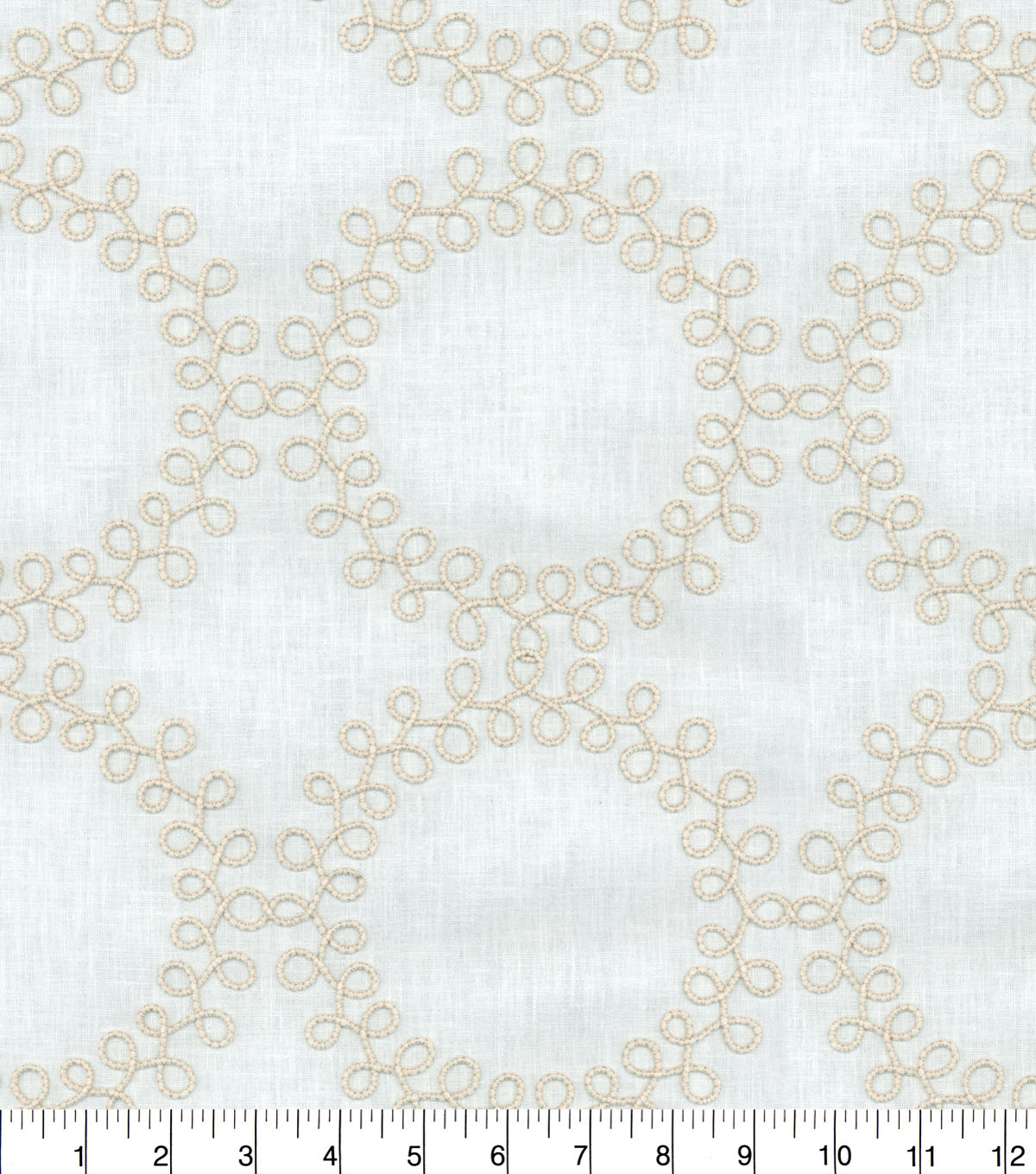 Waverly Upholstery Fabric 13x13\u0022 Swatch-Ready to Roll Emb Twine