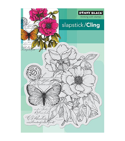 Penny Black Cling Stamp Botanical Notes