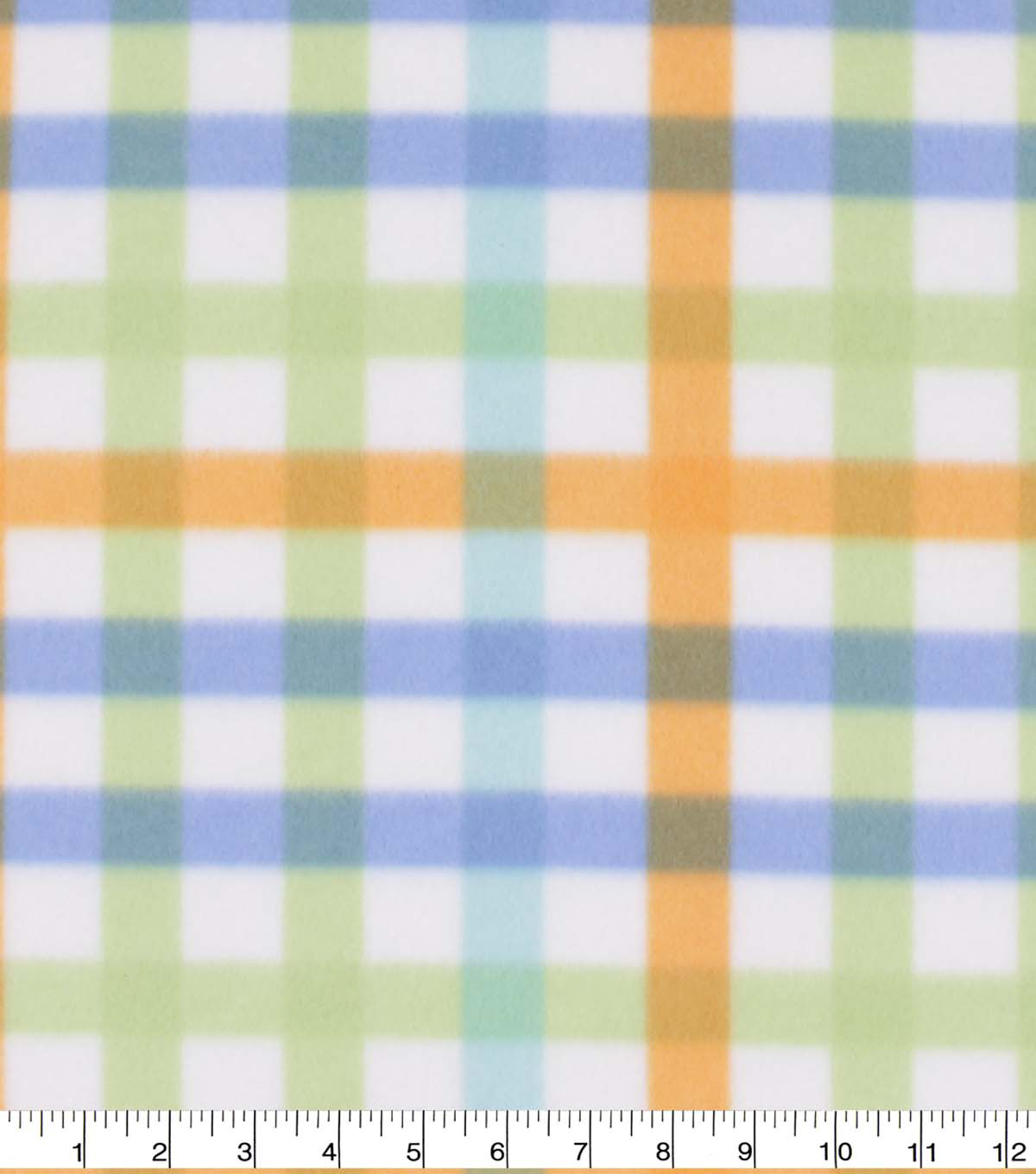 Blizzard Fleece Fabric-Blue and Gold Plaid
