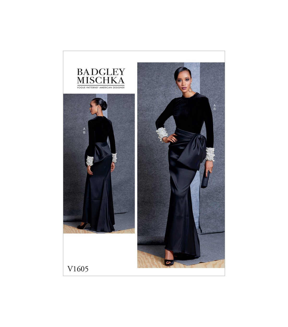 Vogue Pattern V1605 Misses\u0027 Top & Skirt-Size 14-16-18-20-22