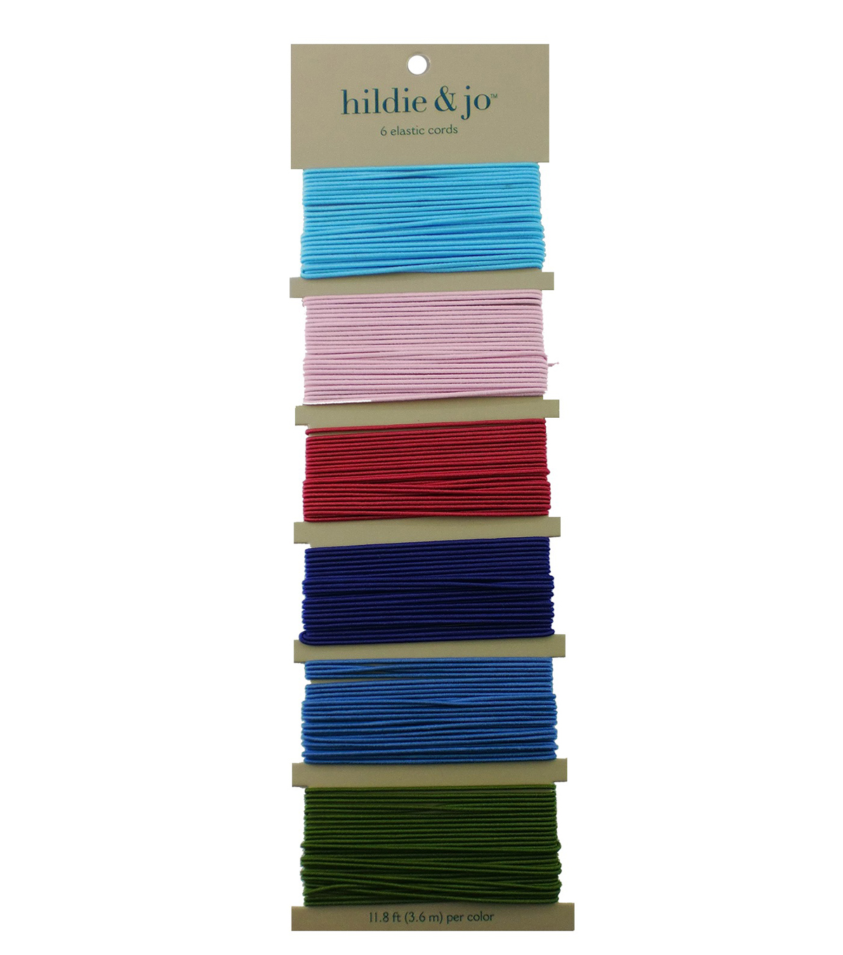Jewelry Fundamentals Cords & More Thick Elastic Cord Variety Pack, Romance