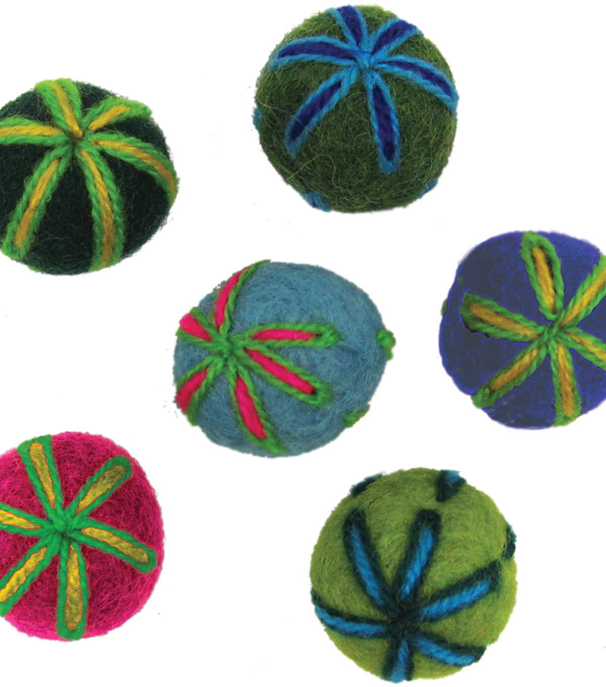 Feltworks Embroidered Balls .7\u0022