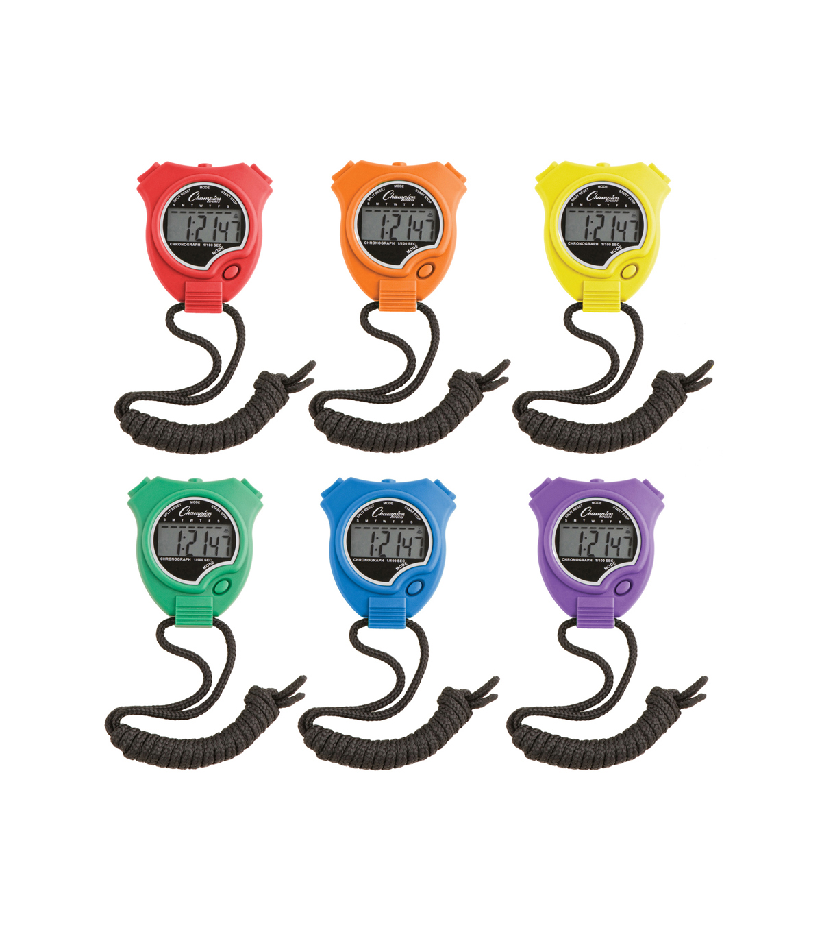 Champion Sports 6 Pk Stop Watch Timer Set