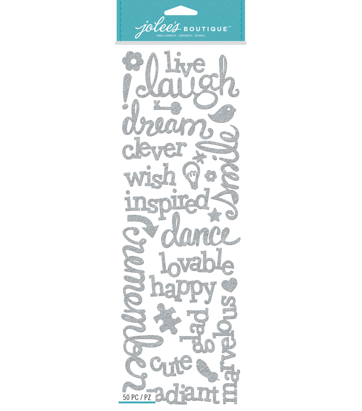 Jolee\u0027s Boutique Laugh And Love Glitter Stickers