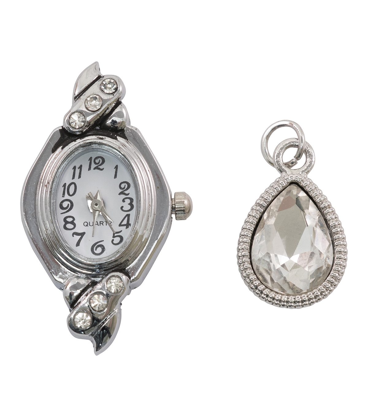 Tim Holtz Assemblage 2 Pack Watch Face & Droplet Charms