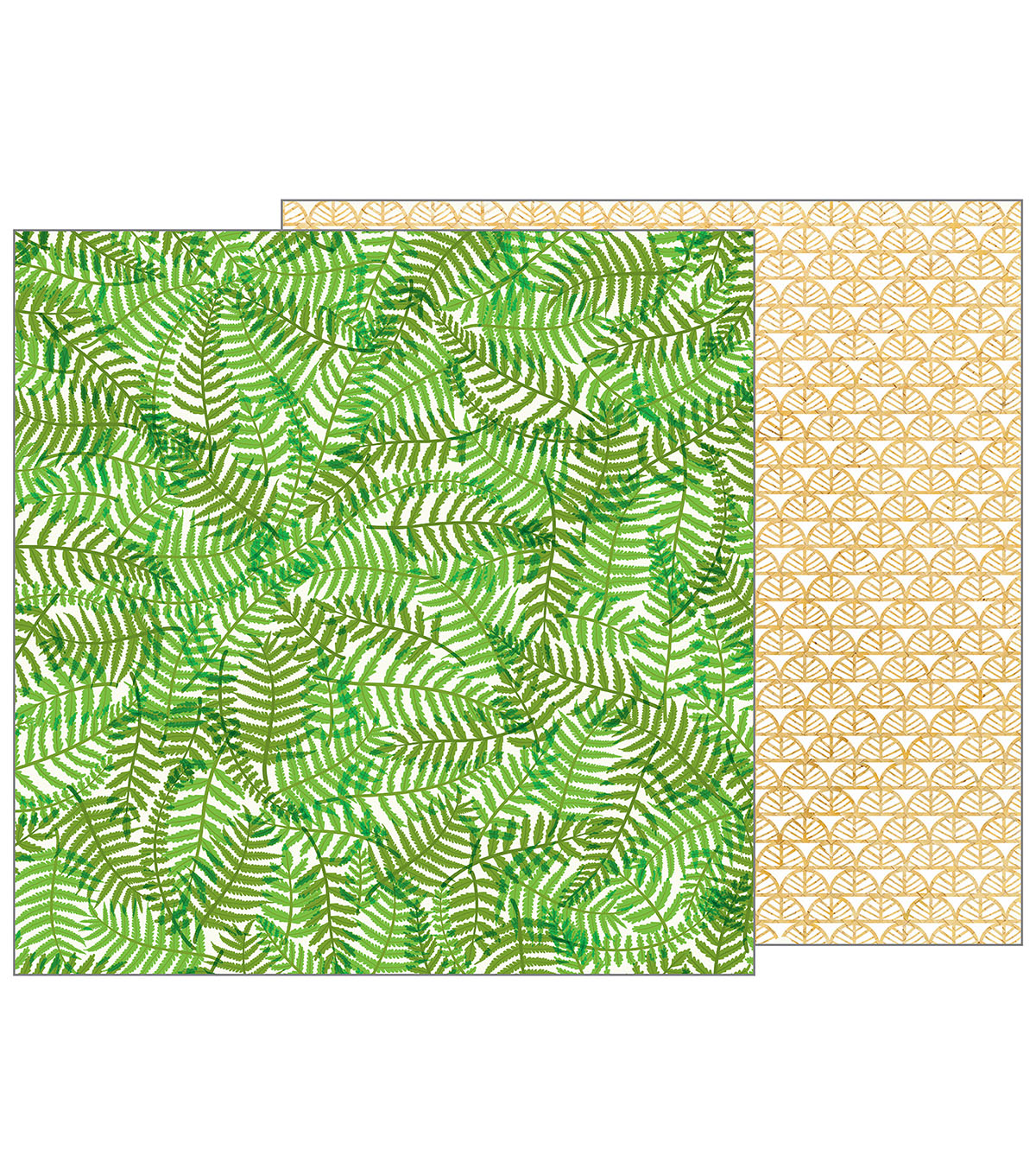 Pebbles Jen Hadfield Patio Party 12\u0027\u0027x12\u0027\u0027 Double-Sided Cardstock-Ferns
