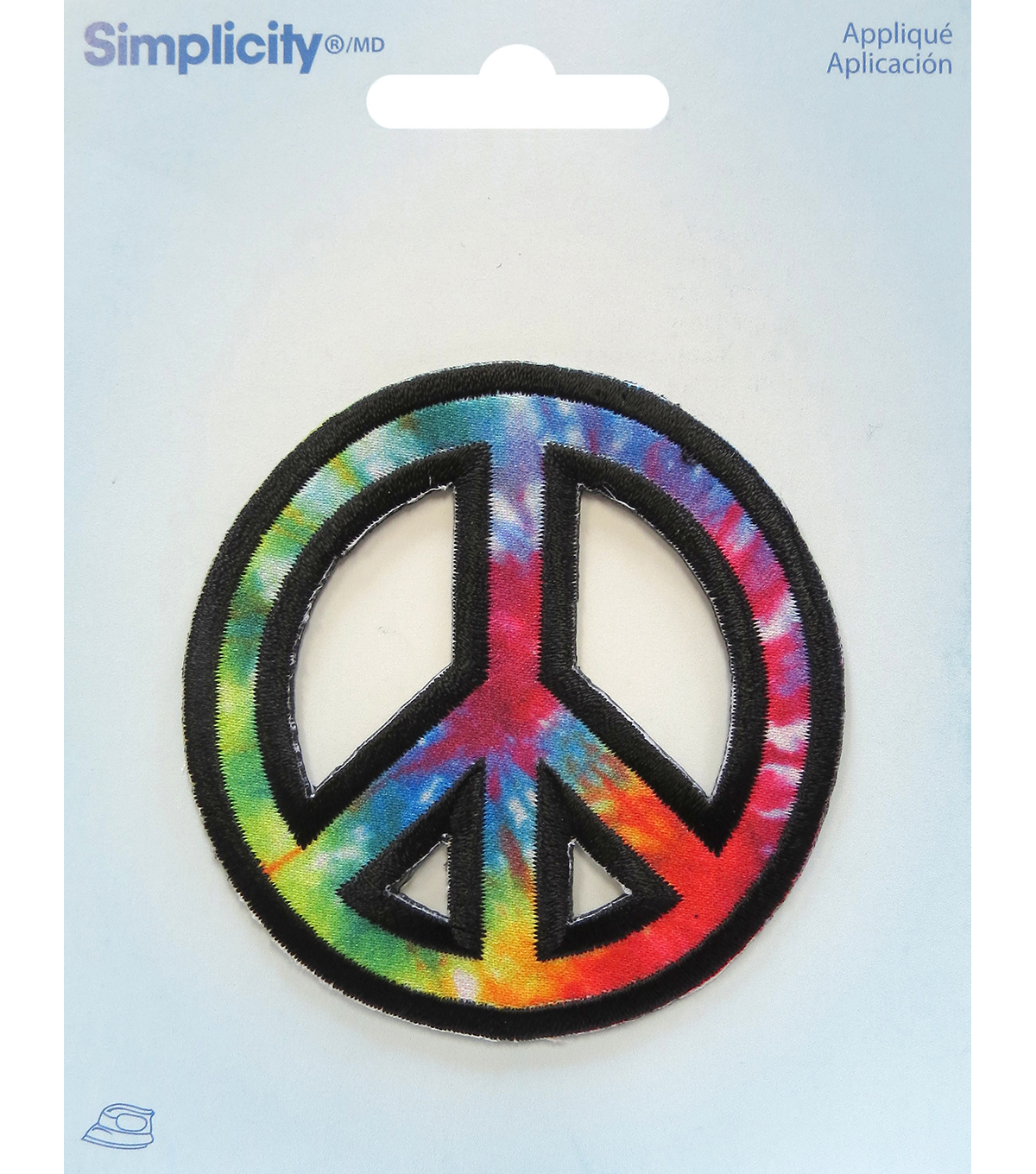 Simplicity Embroidered Iron-On Applique-Peace