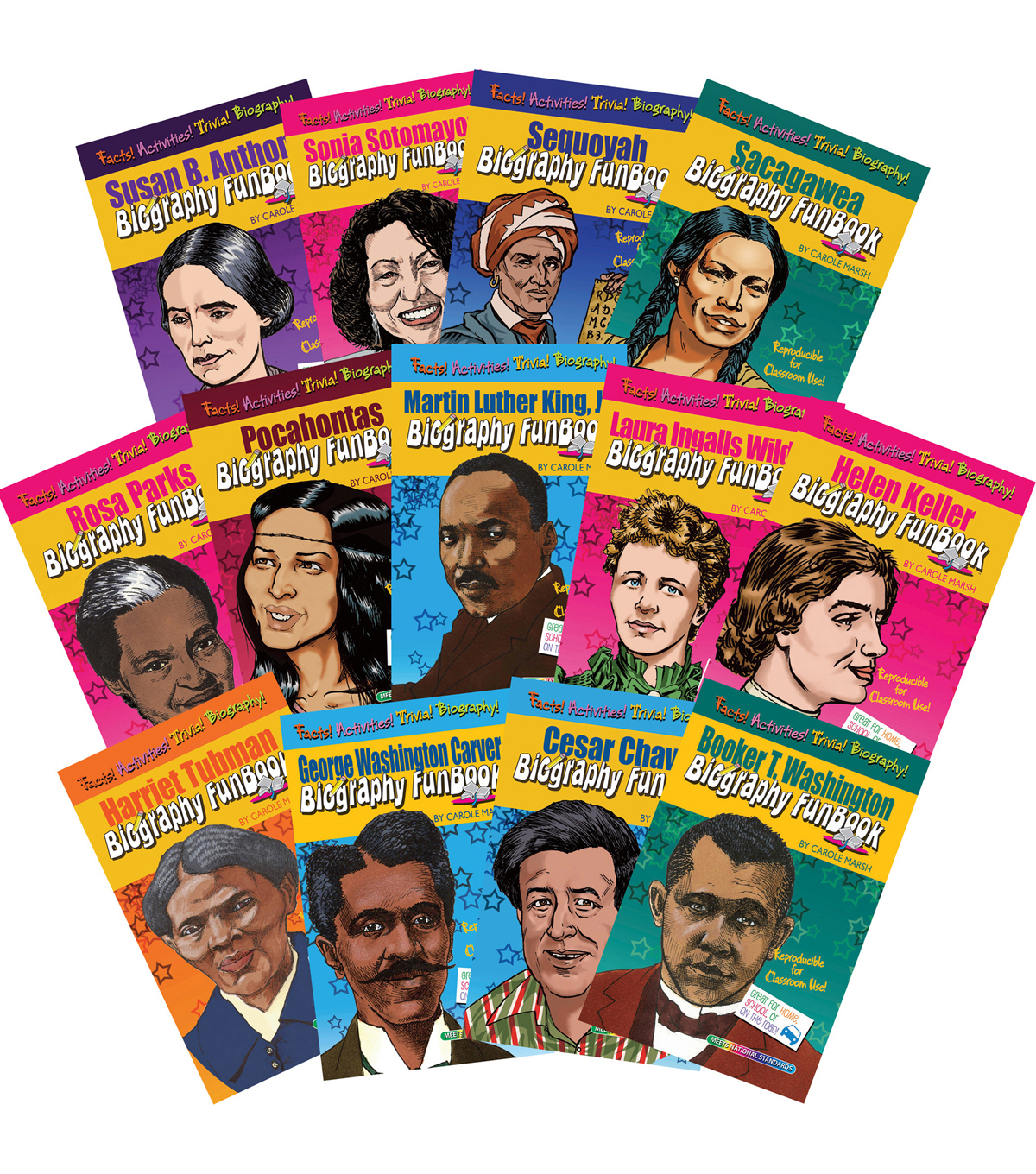 Women & Minorities Who Shaped Our Nation Biography FunBook, Set of 13