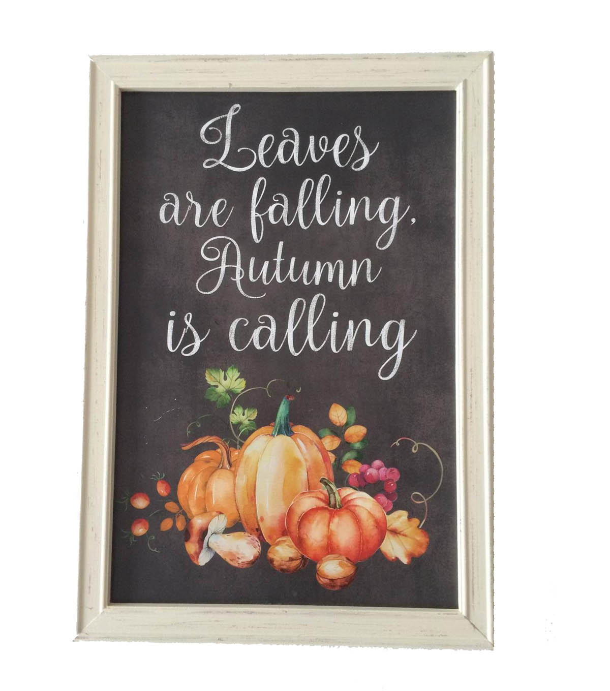 Simply Autumn Chalkboard Leaves Falling Wall Decor
