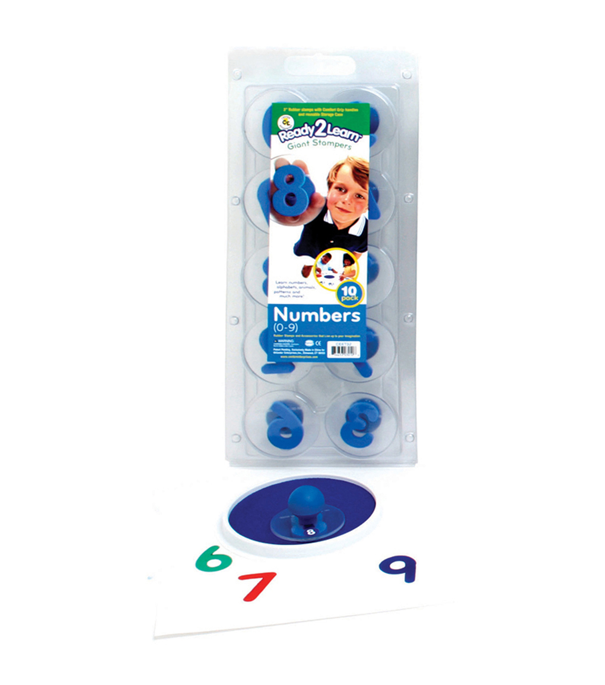 Ready2Learn Giant Stampers, Numbers 0-9, Set of 10, 2 Sets