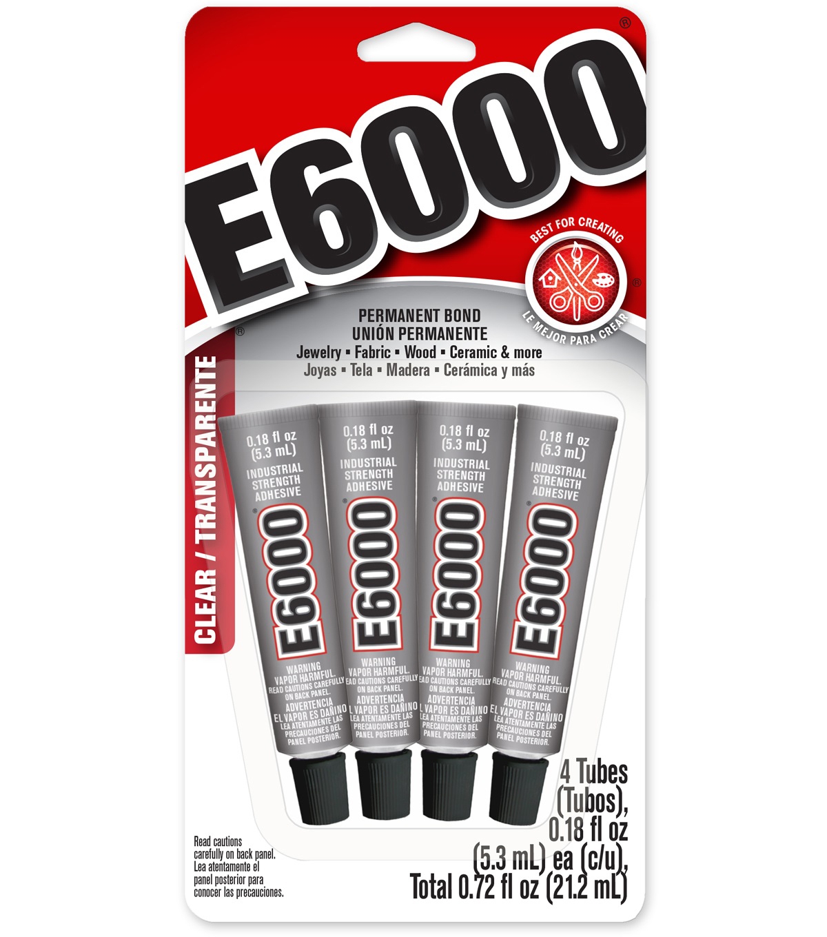 E6000 Multipurpose Adhesive 4/Pkg-.18oz Clear