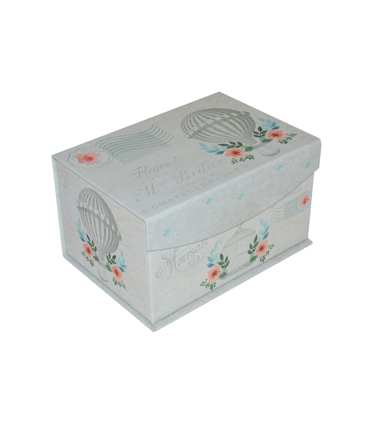 Organizing Essentials Small Flip Top Box-French Floral