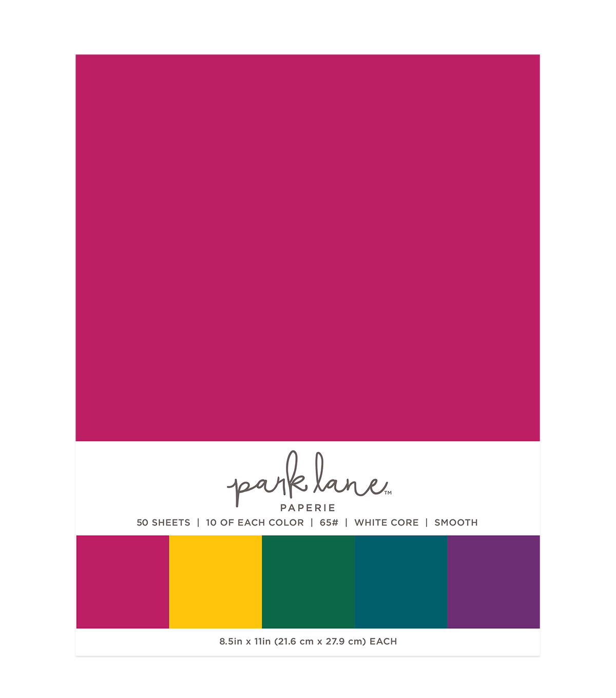 Park Lane 50 pk 8.5\u0027\u0027x11\u0027\u0027 Value Papers-Jewel Solids