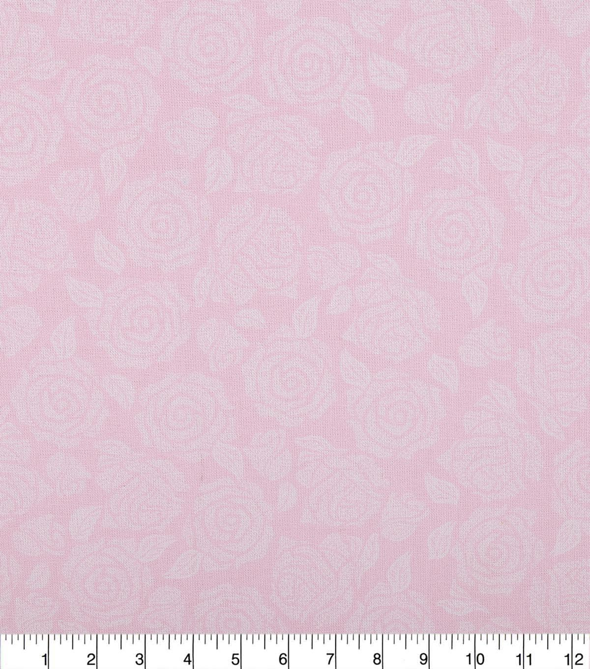 Wide Quilt Cotton Backing Fabric 108\u0022-Blushing Bride Packed Roses
