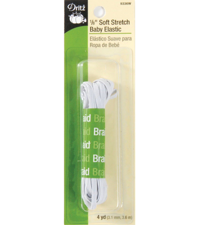 Soft Stretch Elastic 1 8 Wide White Joann