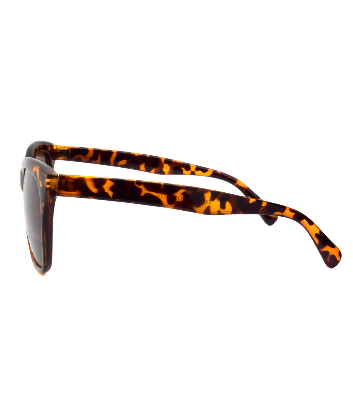 Sunglasses with Square Frame-Brown Tortoise Print