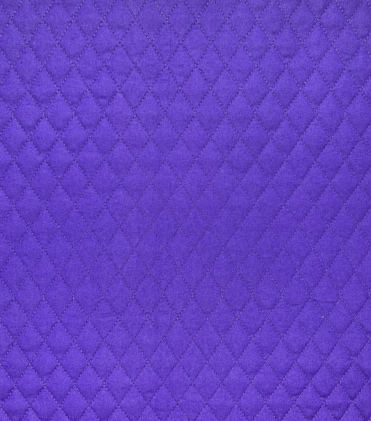 Double Faced Pre-Quilted Cotton Fabric -Diamond Solids, Purple