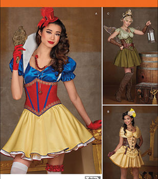 Simplicity Patterns 1093-Misses\u0027 Cosplay Costumes
