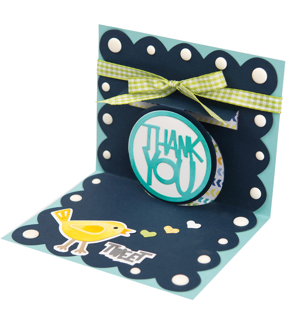 Sizzix Thinlits Stephanie Barnard Die-Thank You 3D Drop-Ins