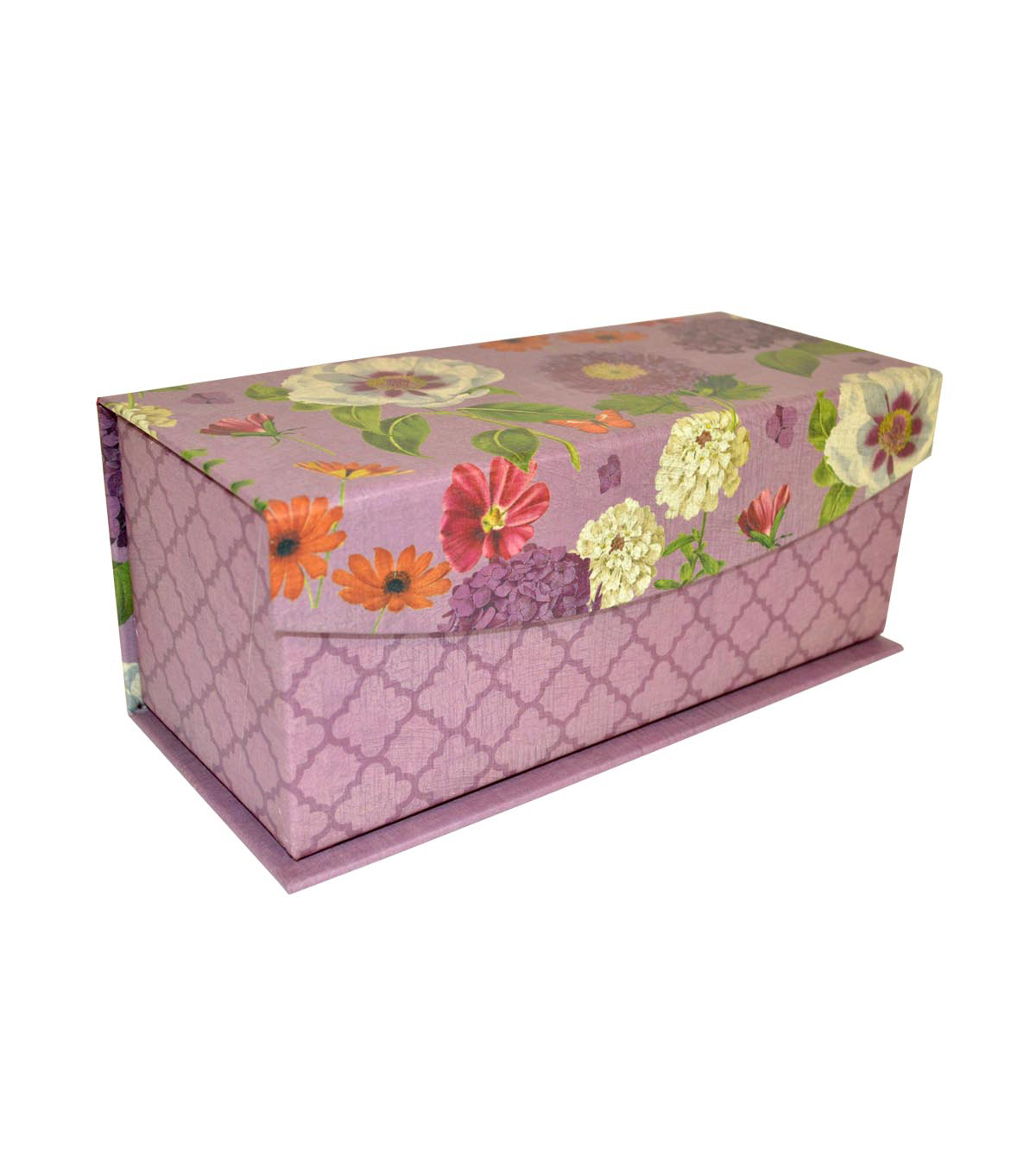 Extra Small Decorative Flip Top Storage Box-Moonlight Floral