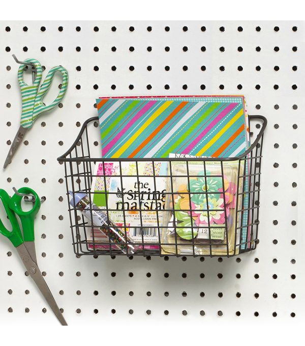Spectrum Medium Pegboard & Wall Mount Basket