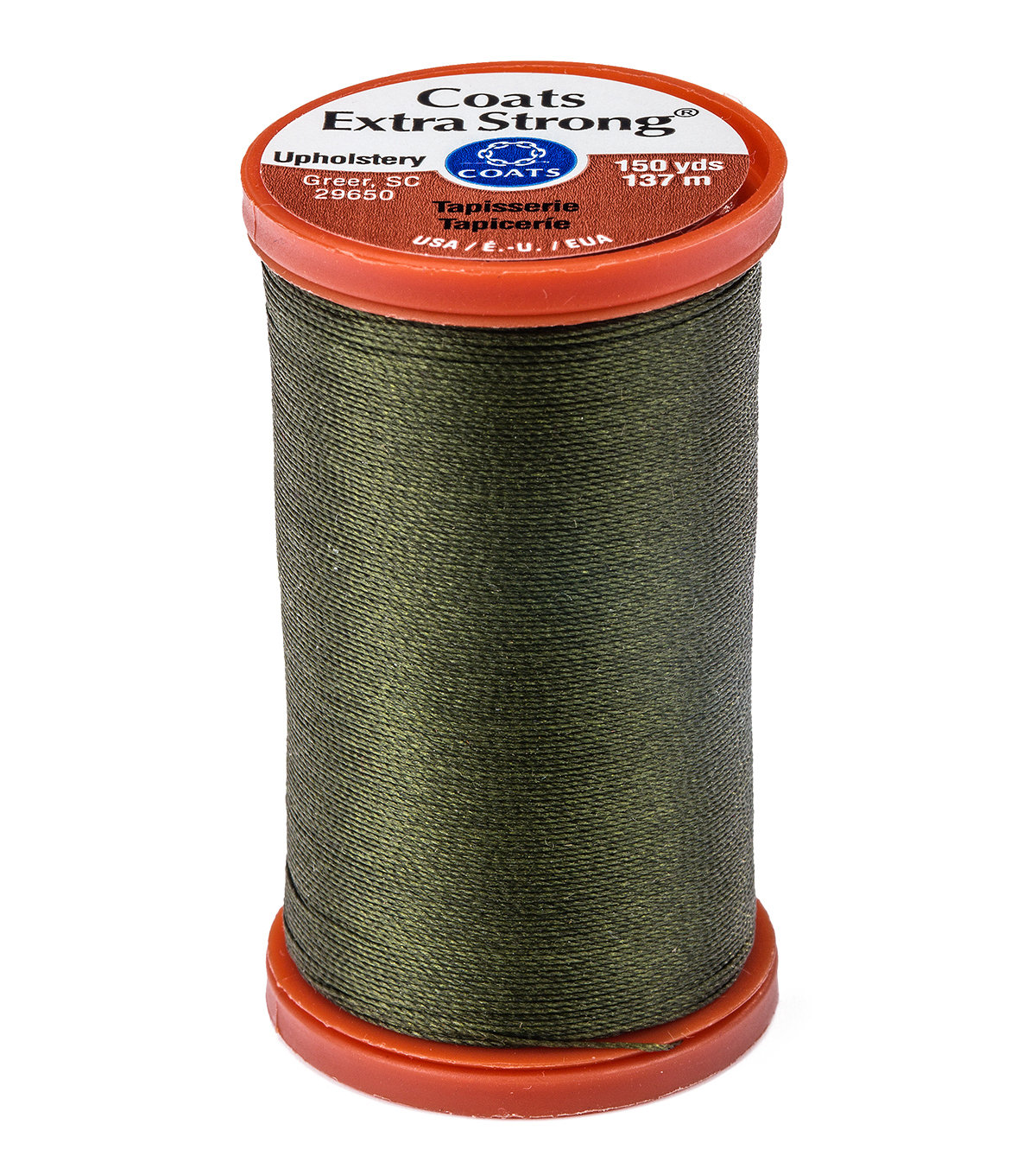 Coats & Clark Extra Strong & Upholstery Thread 150 yd , Bronze Green