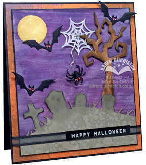 Karen Burniston 5 pk Dies-Halloween Scene