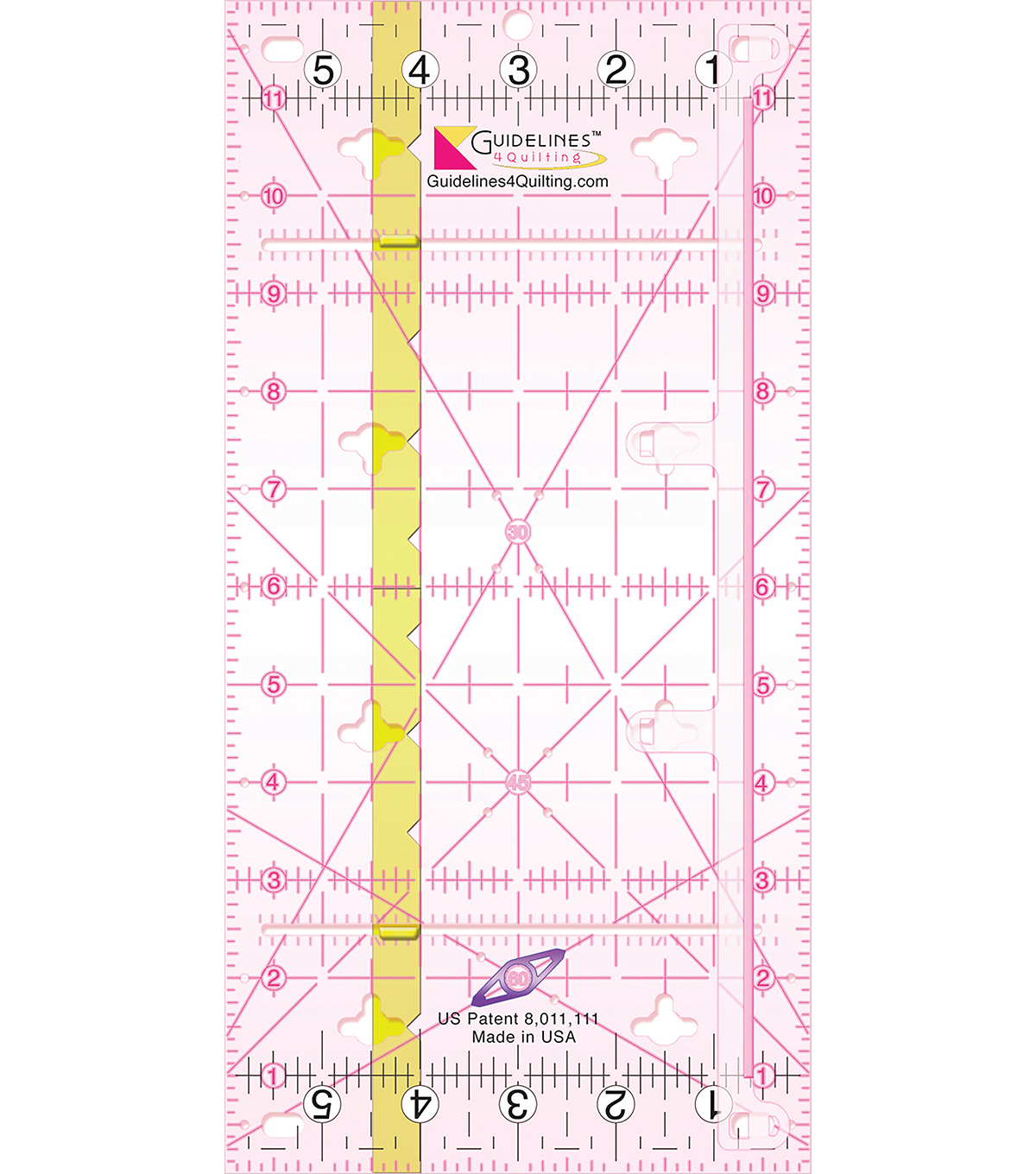 Guidelines4quilting Guidelines Ruler-6\u0022X12\u0022