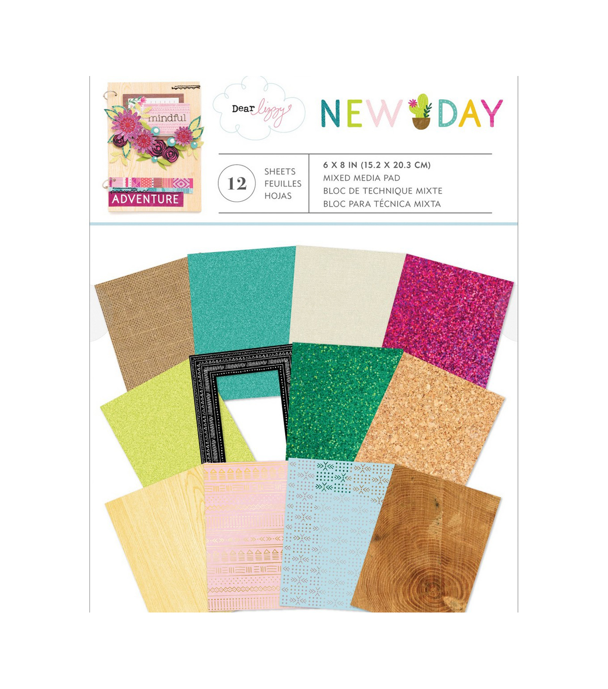 American Crafts Dear Lizzy New Day 12-sheet Mixed Media Paper Pad