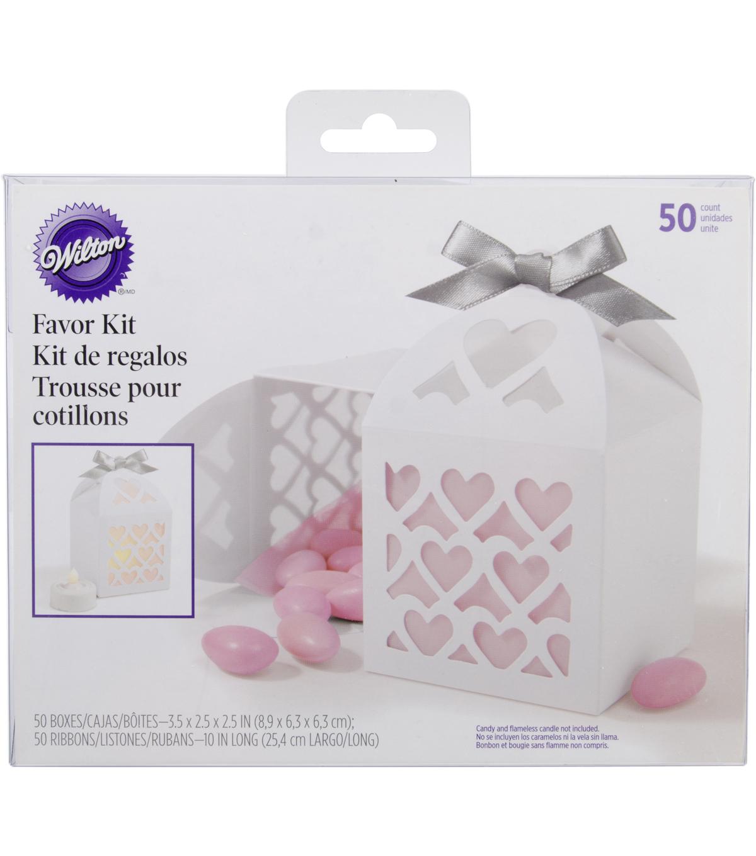 Favor Box Kit Makes 50-White Lace Paper Lantern | JOANN