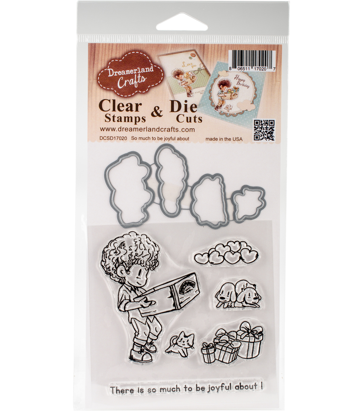 Dreamerland Crafts Clear Stamp & Die Set-So Much To Be Joyful About