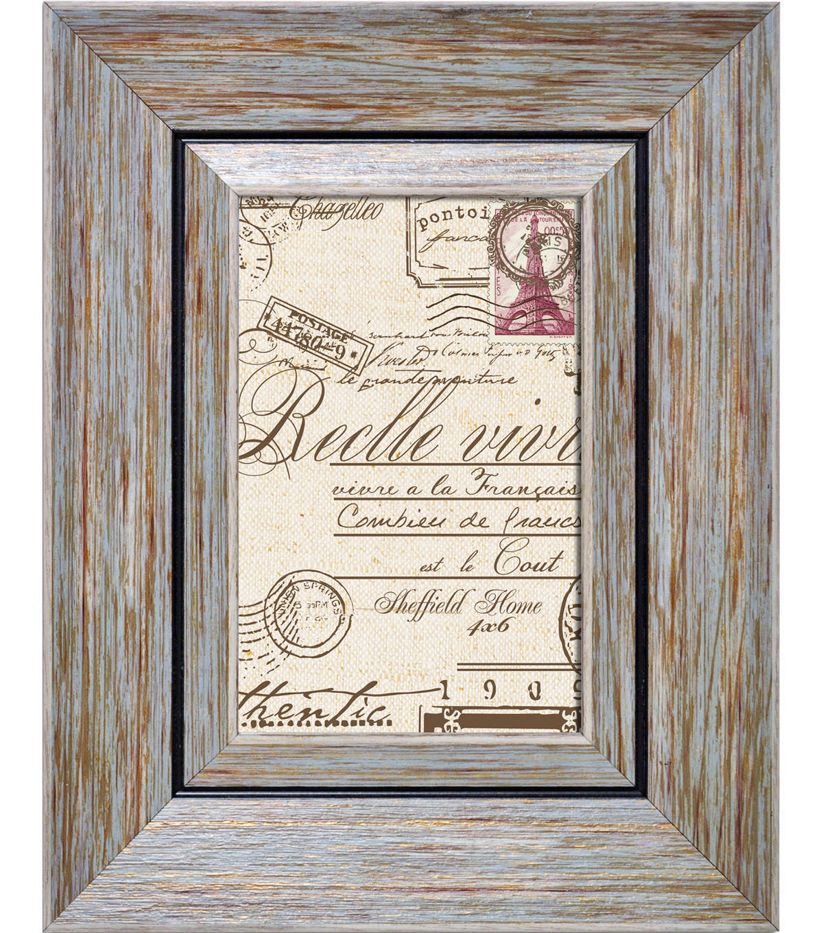 Sheffield Home Raised Border Frame 4x6-Blue
