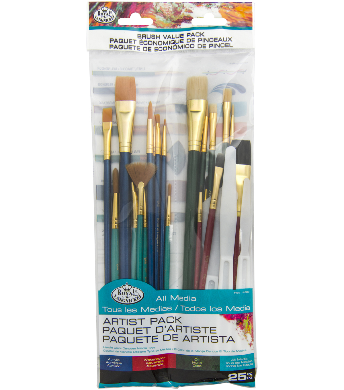 Royal And Langnickel Rart-18 Craft Brush Value Pack Terrific Value pack Of 25
