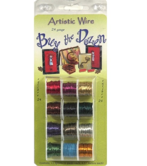 Artistic Wire Buy the Dozen Permanent Colored Wire-12PK/Assorted, Copper
