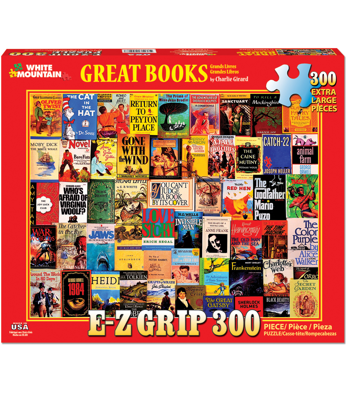 White Mountain Puzzles 300 Pieces 24\u0027\u0027x30\u0027\u0027 Jigsaw Puzzle-Great Books