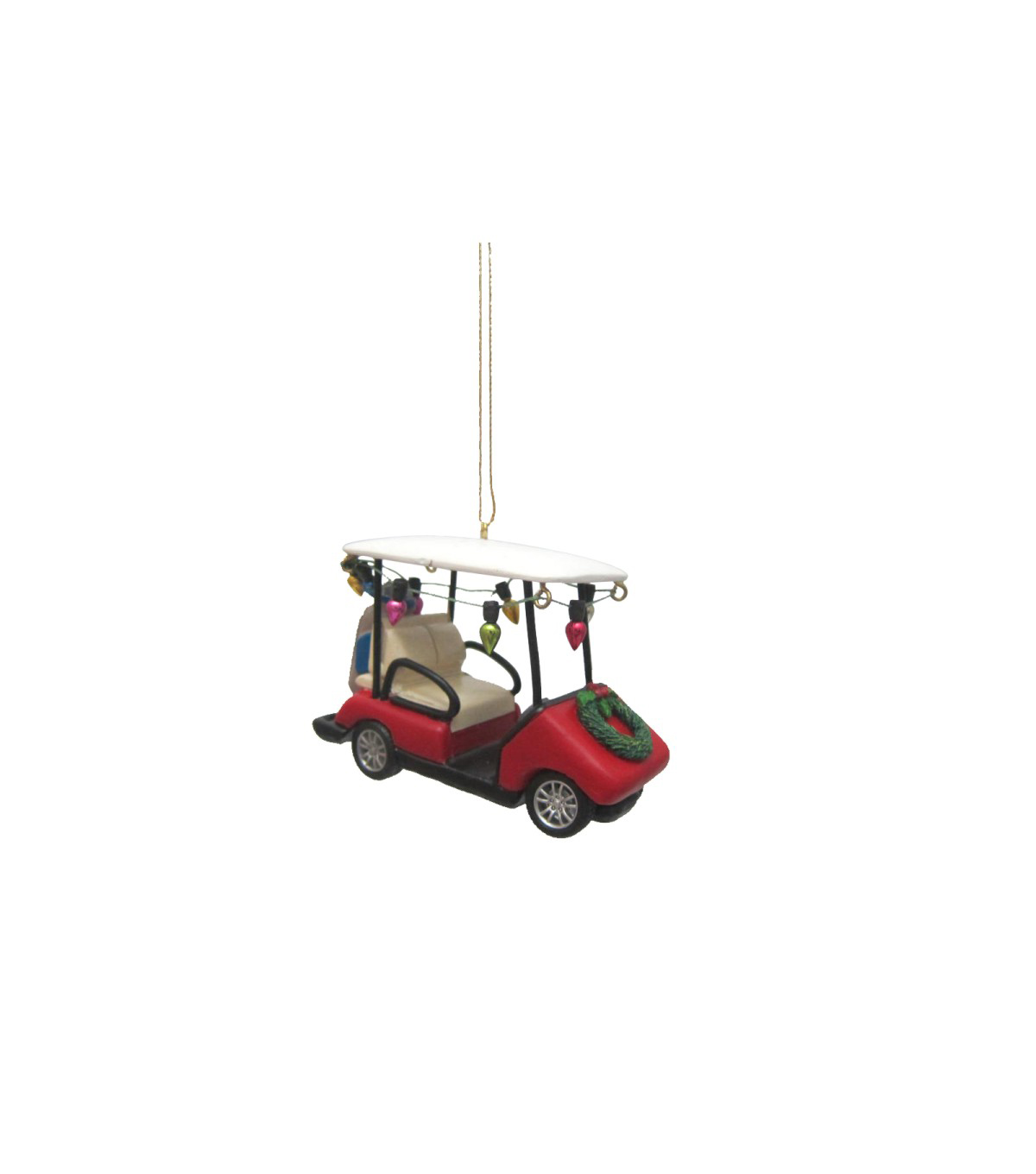 Maker\u0027s Holiday Christmas Golf Cart with Lights Ornament
