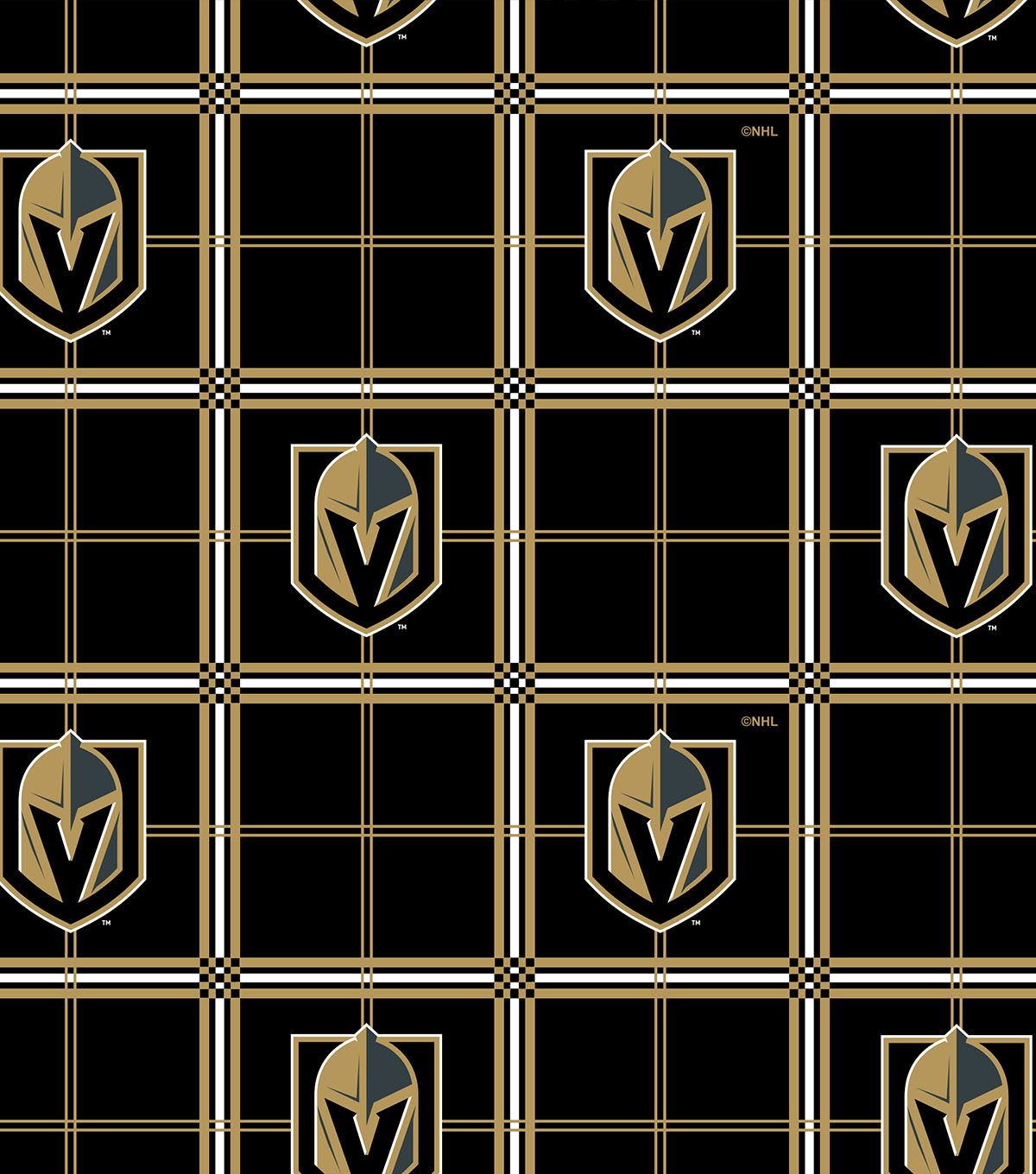 sports shoes 7435f 703d7 Vegas Golden Knights Flannel Fabric-Box Plaid